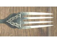 4 Nickel Silver Fish Knives and Forks