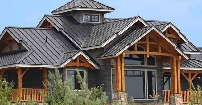 tole toiture mur construction maison chalet condo renovation ind revetement metallique roofing