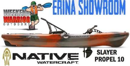 Native Watercraft Slayer Propel 10 Pedal Kayak Great for Fishing Erina Gosford Area Preview