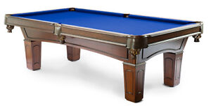 Solid Wood Ascot Pool Table and Genuine Leather Pockets Sarnia Sarnia Area image 2