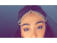 Gorgeous Merola London gold plated head chain piece