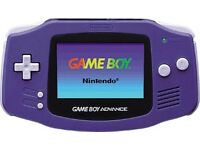Gameboy advance with 2 games one black and purple