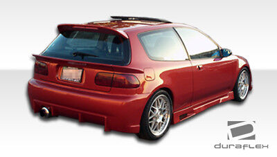 For 92-95 Honda Civic HB Duraflex Mid Wing Trunk Lid Spoiler - 3 Piece 101127 3 Piece Mid Wing