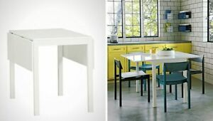 CB2 Slide Bistro Dining Table Folding Leafs