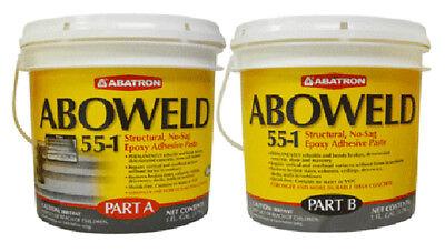 Aboweld 55-1 Concrete Restoration Kit - 1 Quart Resin 1 Quart Hardener