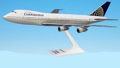 Flight Miniatures Continental Boeing 747-1 Desk Top Display 1/250 Model Airplane
