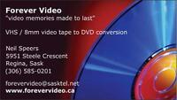 $15 - Video Tape to DVD Transfers - Forever Video
