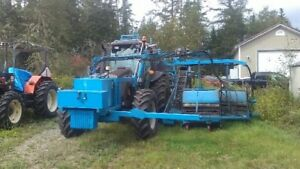Valtra Tractor, Double head blueberry Harvester plus