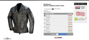 RoadKrome women's classic rider Leather Jacket