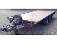 IFOR WILLIAMS TRI-AXLE 14ft X 6.5ft FLAT TRAILER