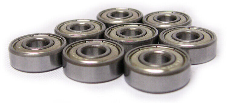 Set of 8 Skateboard BEST VALUE Bearing Silvr ABEC RATED