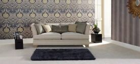 Gorgeous House of Fraser Sofa and Snuggler Chair - brand new condition - can split items