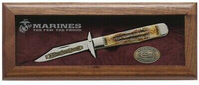 Case xx U.S. Marines Cheetah Set Knife 6.5 Bone Stag 1/250 USMC Stainless #13181