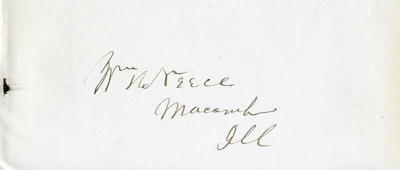 WILLIAM H. NEECE - SIGNATURE(S)
