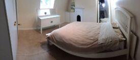 Lovely quiet double room to rent on top floor