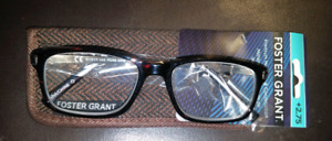 New Foster Grant +2.75 Hyperflex Eye Glasses with case
