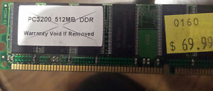 PC3200 512mb DDR for sale