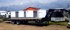 2019 Moritz Flat Bed Trailer  with Hydraulic Tail
