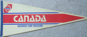 Soccer Canada pennant (national team 1986 World Cup)