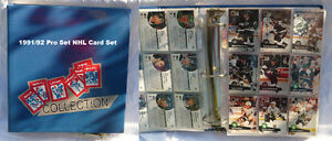 PRO-SET NHL 1991/92 COMPLETE SET OF TRADING CARDS 1 to 615