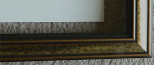 """Wood Frame with light gold and dark stain incl glass 18.25""""x24"""""""
