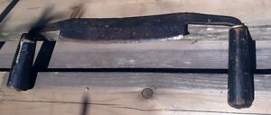 Antique Hand-forged Canadian Drawknife (Draw Knife) Excellent