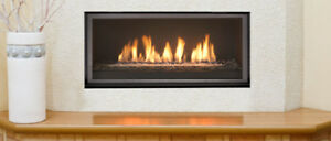 Gas, Electric and wood fireplaces for sale.