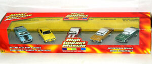 Johnny Lightning 1:64 Scale High Impact Muscle 5 pc Diecast Cars