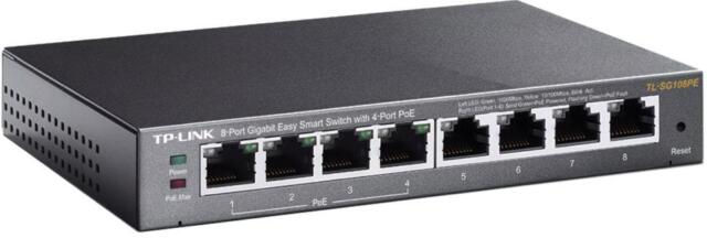 TP-Link TL-SG108PE 8-Port Gigabit PoE Desktop Switch