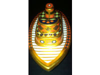 Retired Rare Royal Crown Derby Tug Boat Paperweight