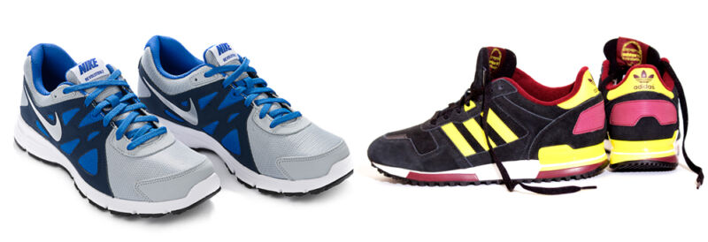 Nike oder Adidas: Welche Marke passt zu Dir? (© Thinkstock / Montage: The Digitale)