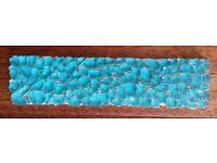 "Vintage""Villi Glas""Turquoise Glass Border Tiles:Kitchen/Bathroom/Shower/Mosaic/Mural/ Art Design"