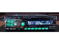 CAR HEAD UNIT ALPINE CDA 9811R CD PLAYER 4x 60 AMPLIFIER AMP STEREO RADIO