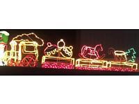 Christmas Rope Light Train
