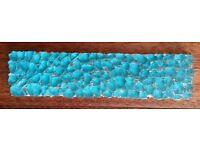 """Vintage""""Villi Glas""""Turquoise Glass Border Tiles:Unique Design: Kitchen/Bathroom/Shower/Mosaic/Mural"""