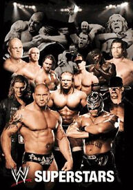 AMAZING 3D WWE SUPERSTARS POSTER