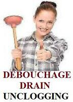 Débouchage /Unclogging - plombier /plumber 438- 875- 4003 CAMERA