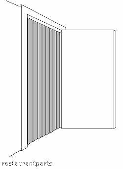 Strip Curtain For Walkin Freezer Refrigerator Door Insulation 23322