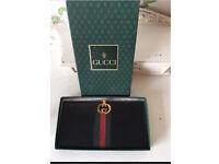 Genuine Gucci Vintage Black Leather Wallet