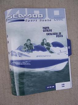 2002 Sea Doo Sport Boat Parts Catalog X-20 5495 Sea-Doo Power Water Vehicle  H
