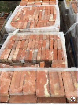 Reclaimed soft red bricks