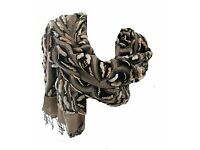 BRAND NEW LARGE EMBROIDERED SCARF /WRAP