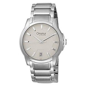 Caravelle by Bulova Men's Silver and Gray Dial Stainless