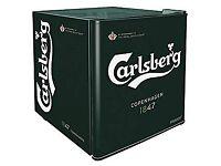 Carlsberg Mini Husky Beer Drinks Fridge Cooler Small Table Top 48Litre