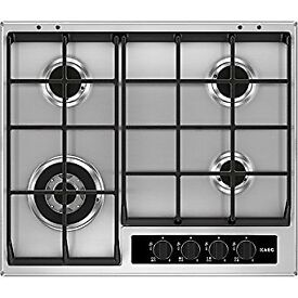 AEG HG654550SY Gas Hob, Stainless Steel