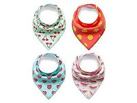 Baby Bibs 4-Pack Drool Bandana (Brand New in pack)