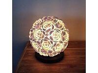 20cm diameter Rose Shell Table Lamp Bali round lighting Home Decor Handmade