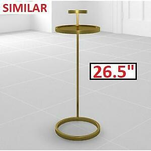"NEW RH 1930S MARTINI SIDE TABLE 14"" 61840013 ABRS 143416824 26.5""H ANTIQUE BRASS END RESTORATION HARDWARE"