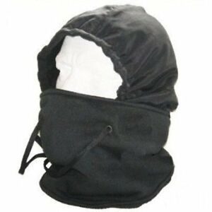Black Snood Full Waterproof Balaclava Hat Fleece Lining Holds Heat Hot Stuff New