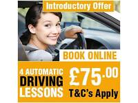 """FIRST 4 AUTOMATIC DRIVING LESSONS ONLY £75.00""The Premier Driving School IN EAST & NORTH LONDON"""